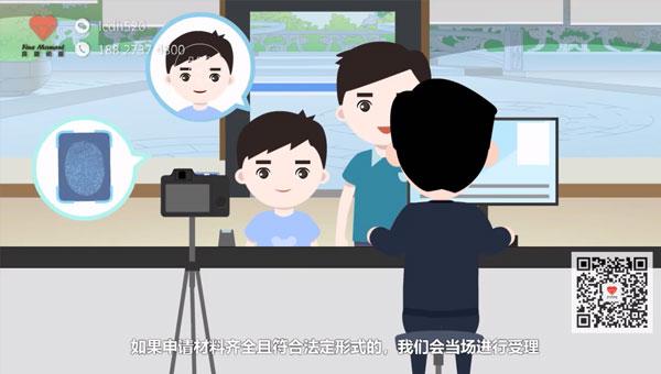 浙江宣传片制作 永康市行政服务中心护照办理指南MG动画