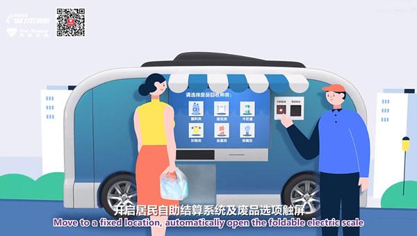 上海动画制作 垃圾分类回收车 二维+三维创意动画